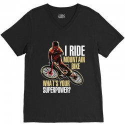 i ride mountain bike V-Neck Tee | Artistshot