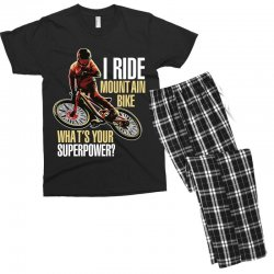 i ride mountain bike Men's T-shirt Pajama Set | Artistshot