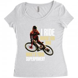 i ride mountain bike Women's Triblend Scoop T-shirt | Artistshot