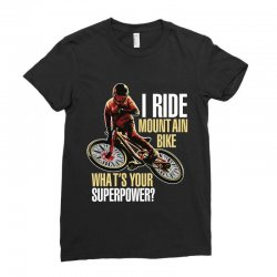 i ride mountain bike Ladies Fitted T-Shirt | Artistshot