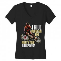 i ride mountain bike Women's V-Neck T-Shirt | Artistshot