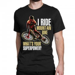 i ride mountain bike Classic T-shirt | Artistshot