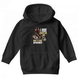 i ride mountain bike Youth Hoodie | Artistshot