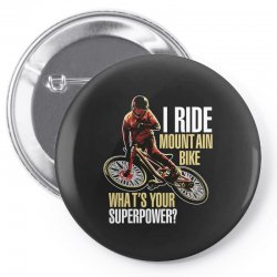 i ride mountain bike Pin-back button | Artistshot