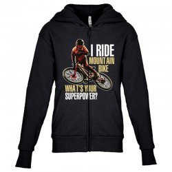 i ride mountain bike Youth Zipper Hoodie | Artistshot
