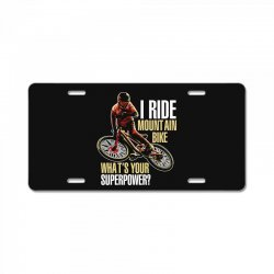 i ride mountain bike License Plate | Artistshot