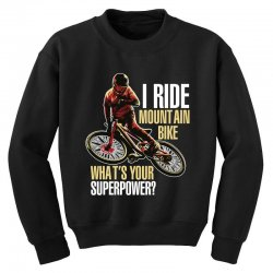 i ride mountain bike Youth Sweatshirt | Artistshot
