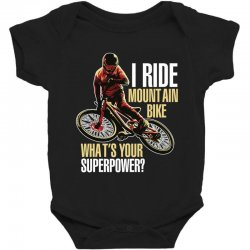 i ride mountain bike Baby Bodysuit | Artistshot