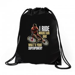 i ride mountain bike Drawstring Bags | Artistshot