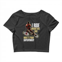 i ride mountain bike Crop Top | Artistshot