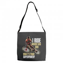 i ride mountain bike Adjustable Strap Totes | Artistshot