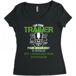 i am your trainer your argument is invalid but i appreciate your enthu Women's Triblend Scoop T-shirt | Artistshot
