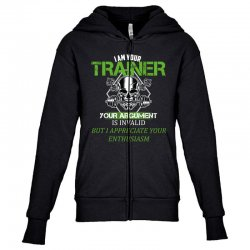 i am your trainer your argument is invalid but i appreciate your enthu Youth Zipper Hoodie | Artistshot