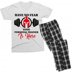 have no fear your personal trainer is here Men's T-shirt Pajama Set   Artistshot