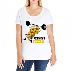 fitness pizza Ladies Curvy T-Shirt | Artistshot