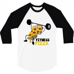 fitness pizza 3/4 Sleeve Shirt | Artistshot