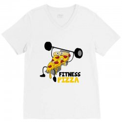 fitness pizza V-Neck Tee | Artistshot