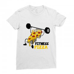 fitness pizza Ladies Fitted T-Shirt | Artistshot