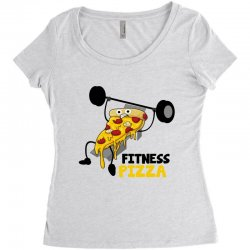 fitness pizza Women's Triblend Scoop T-shirt | Artistshot