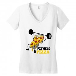 fitness pizza Women's V-Neck T-Shirt | Artistshot