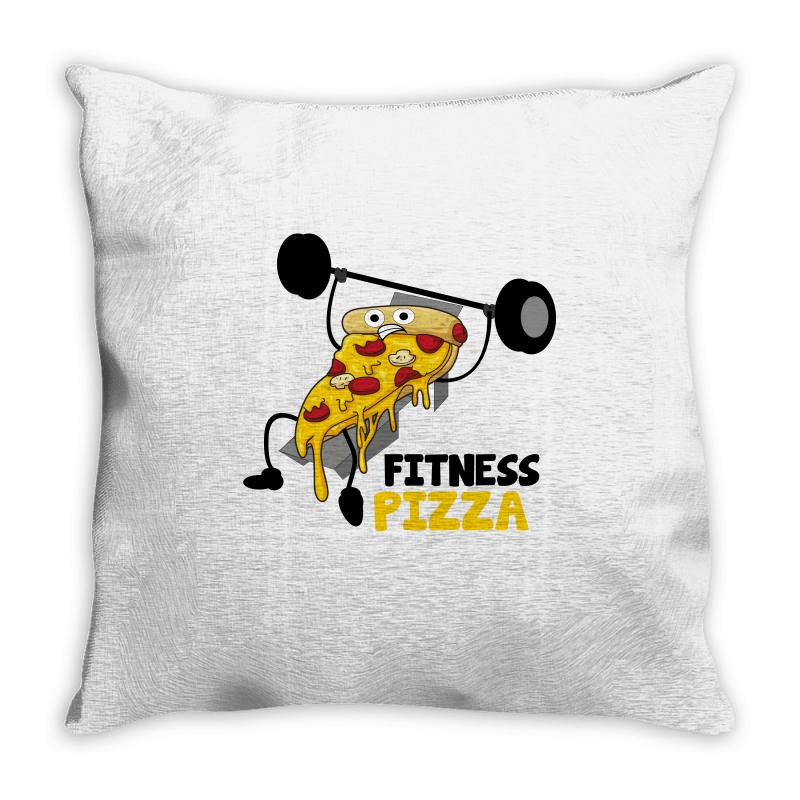 Fitness Pizza Throw Pillow | Artistshot
