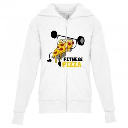 fitness pizza Youth Zipper Hoodie | Artistshot