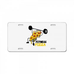 fitness pizza License Plate | Artistshot