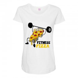 fitness pizza Maternity Scoop Neck T-shirt | Artistshot