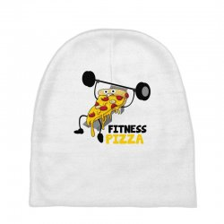 fitness pizza Baby Beanies | Artistshot