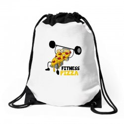 fitness pizza Drawstring Bags | Artistshot