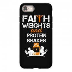 faith weights and protein shakes iPhone 8 Case | Artistshot