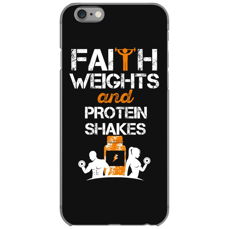 Custom Faith Weights And Protein Shakes Iphone 6 6s Case By Wizarts Artistshot