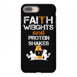 faith weights and protein shakes iPhone 8 Plus Case | Artistshot