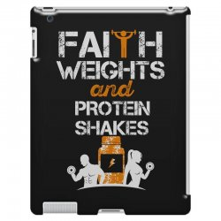 faith weights and protein shakes iPad 3 and 4 Case | Artistshot