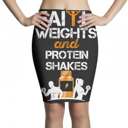 faith weights and protein shakes Pencil Skirts | Artistshot