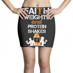 faith weights and protein shakes Mini Skirts | Artistshot