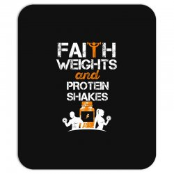 faith weights and protein shakes Mousepad | Artistshot