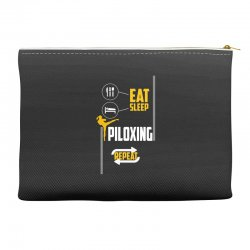 eat sleep piloxing repeat Accessory Pouches | Artistshot