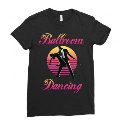Ballroom Dancing Ladies Fitted T-shirt Designed By Wizarts