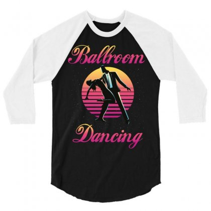 Ballroom Dancing 3/4 Sleeve Shirt Designed By Wizarts