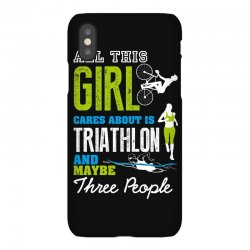 all this girl cares about is triathlon and maybe three people.  run sw iPhoneX Case | Artistshot