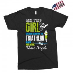 all this girl cares about is triathlon and maybe three people.  run sw Exclusive T-shirt | Artistshot