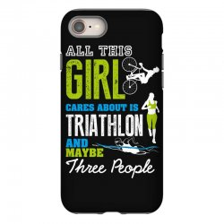 all this girl cares about is triathlon and maybe three people.  run sw iPhone 8 Case | Artistshot
