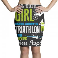 all this girl cares about is triathlon and maybe three people.  run sw Pencil Skirts | Artistshot
