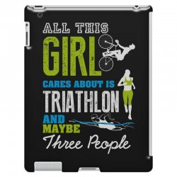 all this girl cares about is triathlon and maybe three people.  run sw iPad 3 and 4 Case | Artistshot