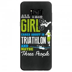 all this girl cares about is triathlon and maybe three people.  run sw Samsung Galaxy S8 Case | Artistshot