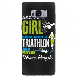 all this girl cares about is triathlon and maybe three people.  run sw Samsung Galaxy S8 Plus Case | Artistshot