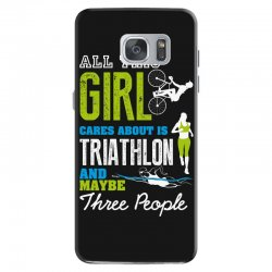 all this girl cares about is triathlon and maybe three people.  run sw Samsung Galaxy S7 Case | Artistshot