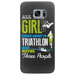 all this girl cares about is triathlon and maybe three people.  run sw Samsung Galaxy S7 Edge Case | Artistshot