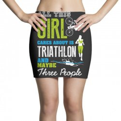all this girl cares about is triathlon and maybe three people.  run sw Mini Skirts | Artistshot